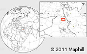 Blank Location Map of Arbīl