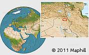 Satellite Location Map of Arbīl
