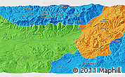 """Political 3D Map of the area around 36°19'55""""N,4°19'30""""E"""