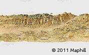 Satellite Panoramic Map of Beni Dja'âd