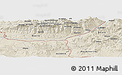 Shaded Relief Panoramic Map of Beni Dja'âd