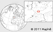 """Blank Location Map of the area around 36°19'55""""N,4°10'30""""W"""