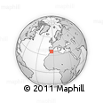 """Outline Map of the Area around 36° 19' 55"""" N, 4° 10' 30"""" W, rectangular outline"""