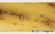 """Physical 3D Map of the area around 36°19'55""""N,57°52'30""""E"""