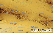 """Physical Map of the area around 36°19'55""""N,57°52'30""""E"""