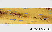 """Physical Panoramic Map of the area around 36°19'55""""N,57°52'30""""E"""