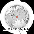 Outline Map of Neyshabur, rectangular outline