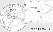Blank Location Map of Mashhad