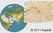 Satellite Location Map of Mashhad
