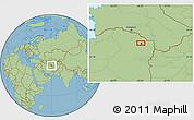 Savanna Style Location Map of Mashhad