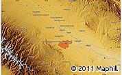 Physical Map of Mashhad