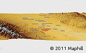 Physical Panoramic Map of Mashhad