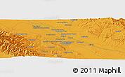 Political Panoramic Map of Mashhad
