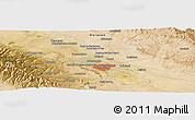 Satellite Panoramic Map of Mashhad