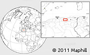 """Blank Location Map of the area around 36°19'55""""N,5°10'30""""E"""