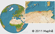 Satellite Location Map of Sétif