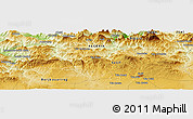 Physical Panoramic Map of 'Aïn Mergoum