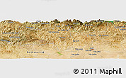 Satellite Panoramic Map of Bordj du Keskes
