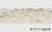 Shaded Relief Panoramic Map of Mechta Bou Abdallah
