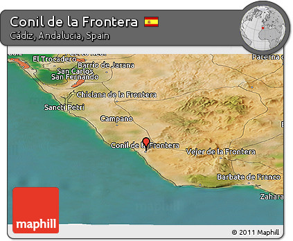 Free Satellite Panoramic Map of Conil De La Frontera
