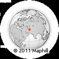 Outline Map of Sarakhs, rectangular outline