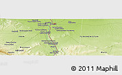 """Physical Panoramic Map of the area around 36°19'55""""N,61°16'29""""E"""