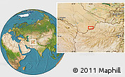 """Satellite Location Map of the area around 36°19'55""""N,63°49'30""""E"""