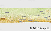 Physical Panoramic Map of Afghān Tappeh
