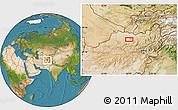 Satellite Location Map of Aqchah (2)