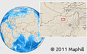 Shaded Relief Location Map of Aqchah (2)