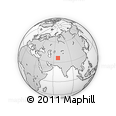 Outline Map of Aqchah (2), rectangular outline