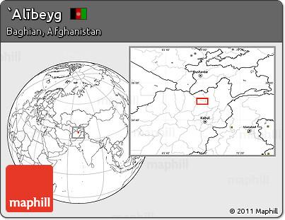 Blank Location Map of `Alībeyg
