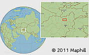 Savanna Style Location Map of `Alībeyg