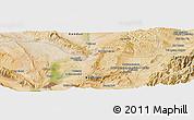 Satellite Panoramic Map of Baghlān
