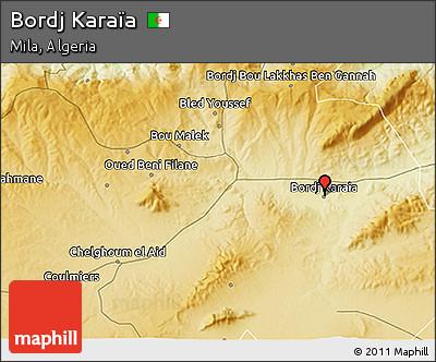 Physical 3D Map of Bordj Karaïa