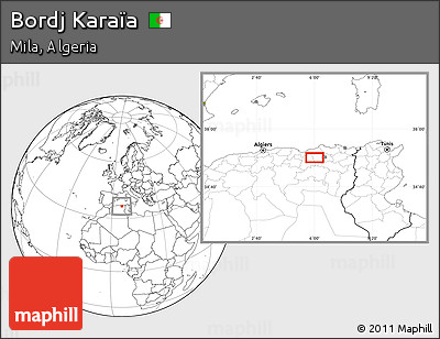 Blank Location Map of Bordj Karaïa