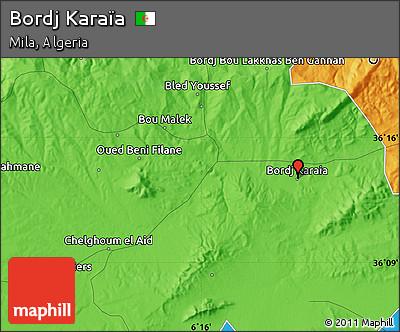 Political Map of Bordj Karaïa