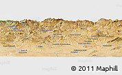 Satellite Panoramic Map of Bordj Ben Zeggouta
