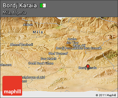 Satellite Panoramic Map of Bordj Karaïa