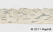 Shaded Relief Panoramic Map of Bordj Bou Lakkhas Ben Gannah