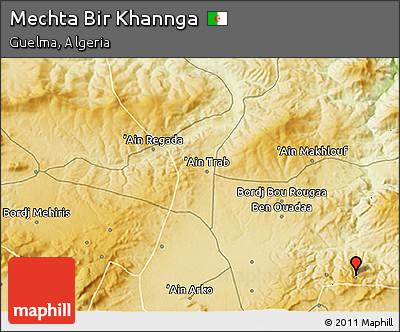 Physical 3D Map of Mechta Bir Khannga
