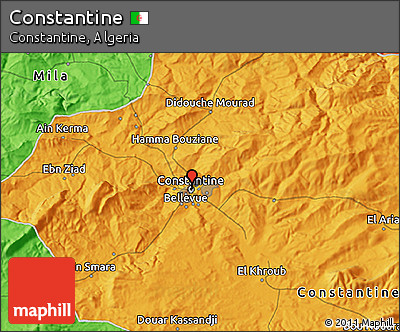 Political 3D Map of Constantine