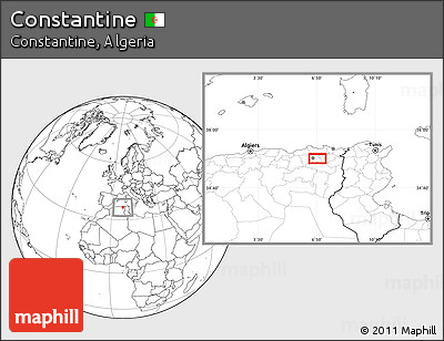 Blank Location Map of Constantine