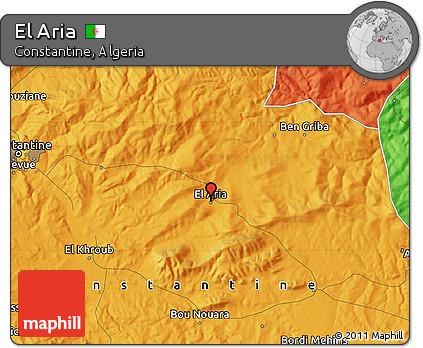 Political Map of El Aria