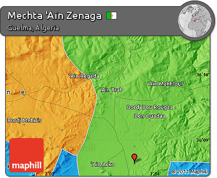 Political Map of Mechta 'Aïn Zenaga