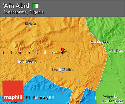 Political Map of 'Aïn Abid