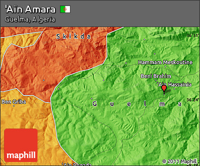 Political Map of 'Aïn Amara