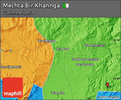 Political Map of Mechta Bir Khannga