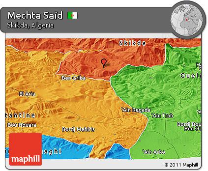 Political Panoramic Map of Mechta Saïd