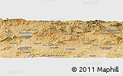 Satellite Panoramic Map of El Milia
